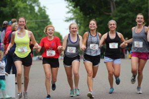 Run Stillwater, Inc. finish line, Pioneer Park